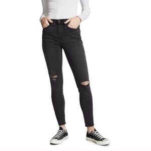 Madewell 9 inch high rise gray skinny jeans 26